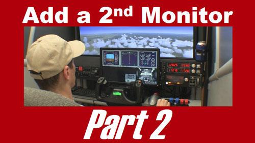 Add a second monitor to a flight sim