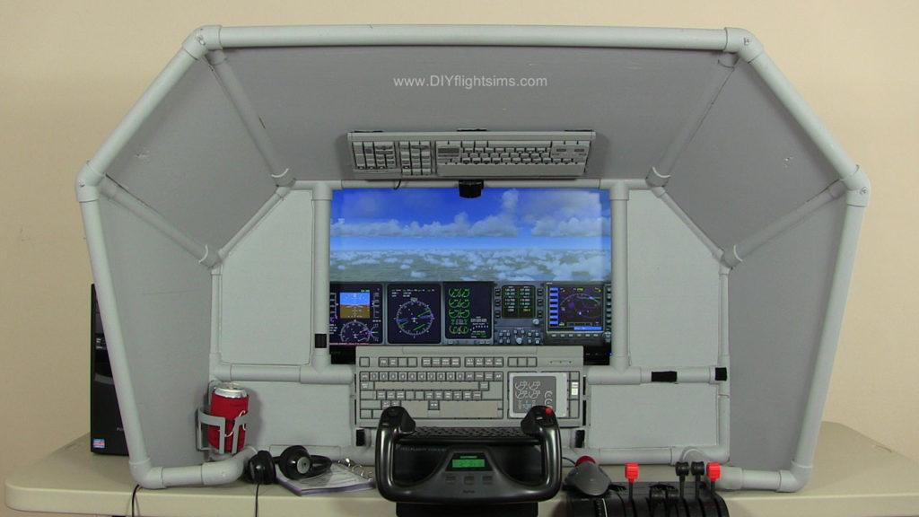 DIY Universal Airliner Cockpit, tabletop cockpit enclosure