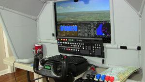 modified keyboard airplane control panel