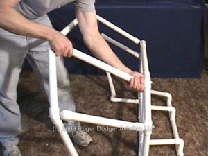 assembling pipe frame