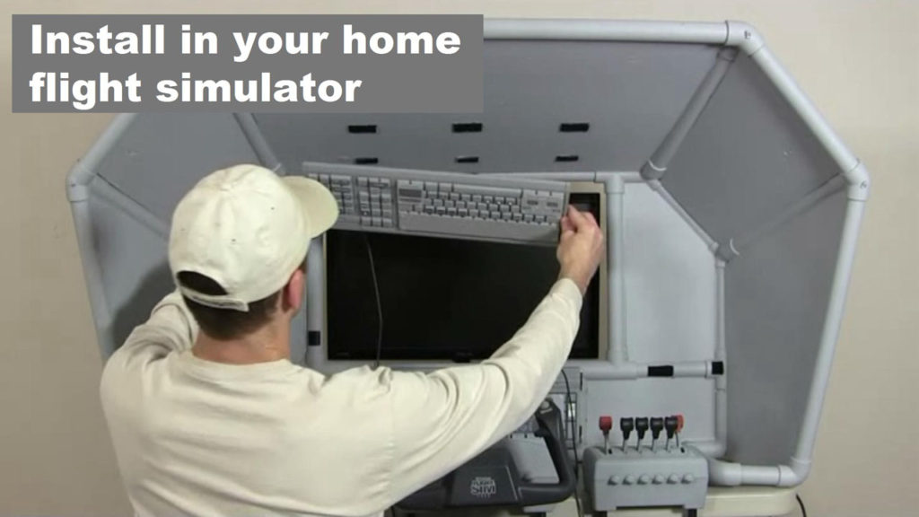 man installing control panel in Boeing 737 plane