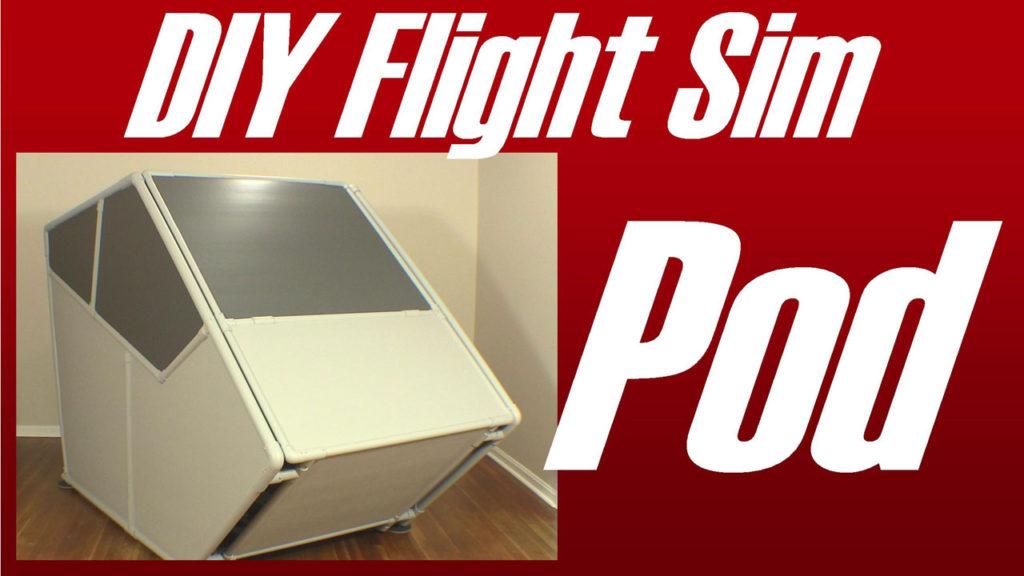 Exterior view of pod shaped flight sim