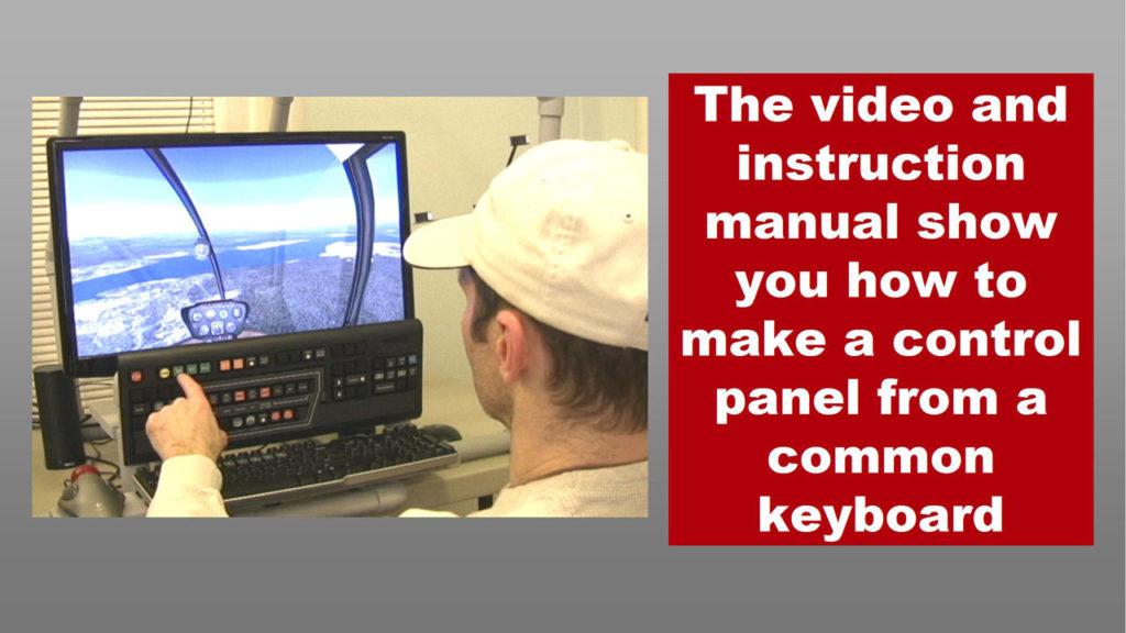 man installing keyboard control panel