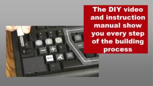 closeup of modified keyboard