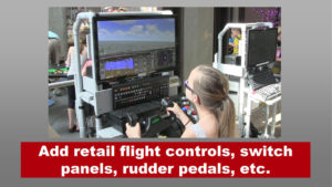 girl at the controls