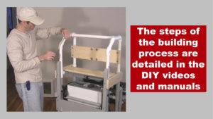 man measuring part of pipe framework