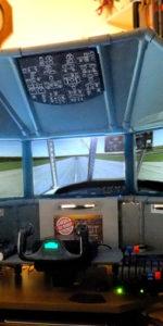 Desktop triple screen flight sim by Ron