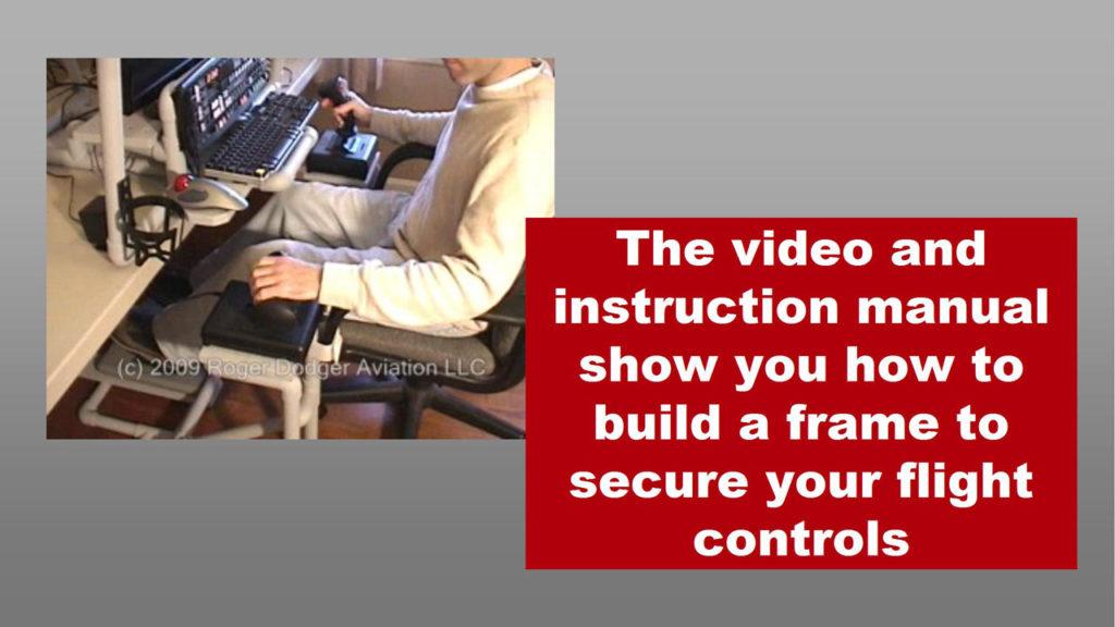 man at controls of F-16 viper flight simulator