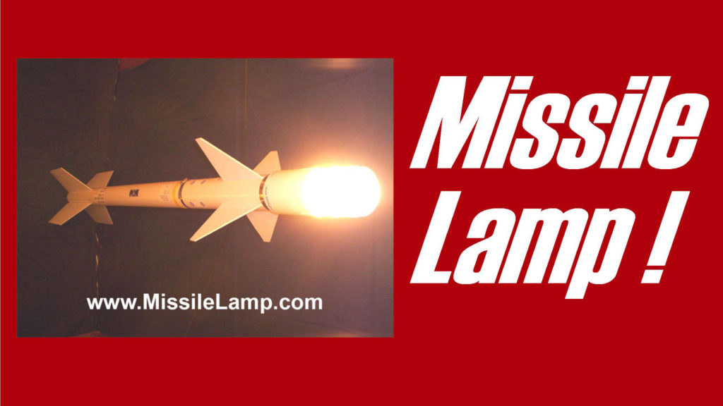the Missile Lamp is a floor lamp that looks like a missile