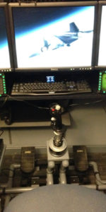 Home flight sim helicopter collective, triple screens by George