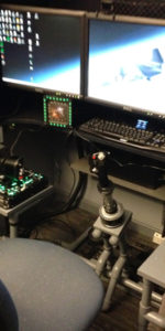 DIY flight sim helicopter collective and triple screens by George