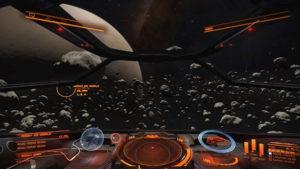 Elite Dangerous virtual cockpit, sidewinder