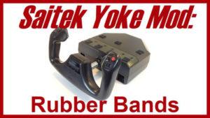 Saitek yoke fix: Rubber Bands