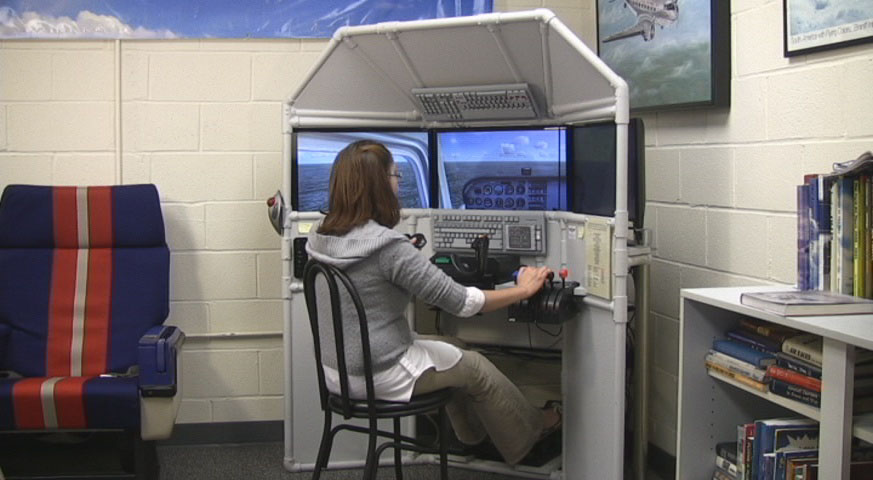 The Triple Screen Flight Sim at the National Airline History Museum
