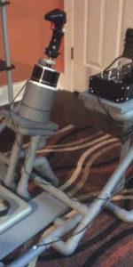 HOTAS frame with Thrustmaster Warthog joystick, Ron 01