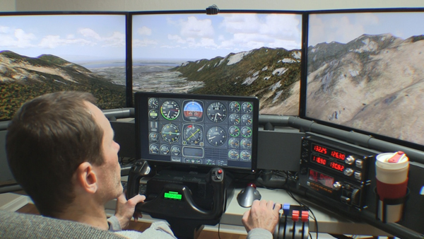 Home built flight simulators with new mods