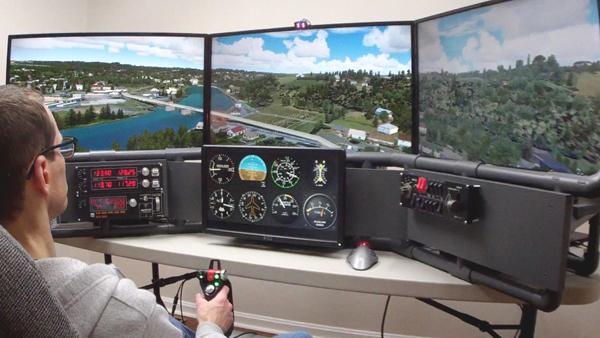 DIY flight simulator cockpit plans