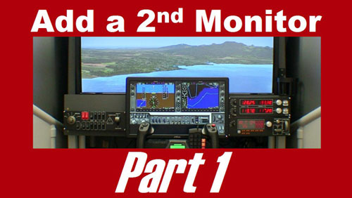 Dual monitors for your home flight simulator
