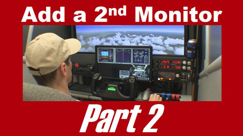 Add a second monitor to a flight sim