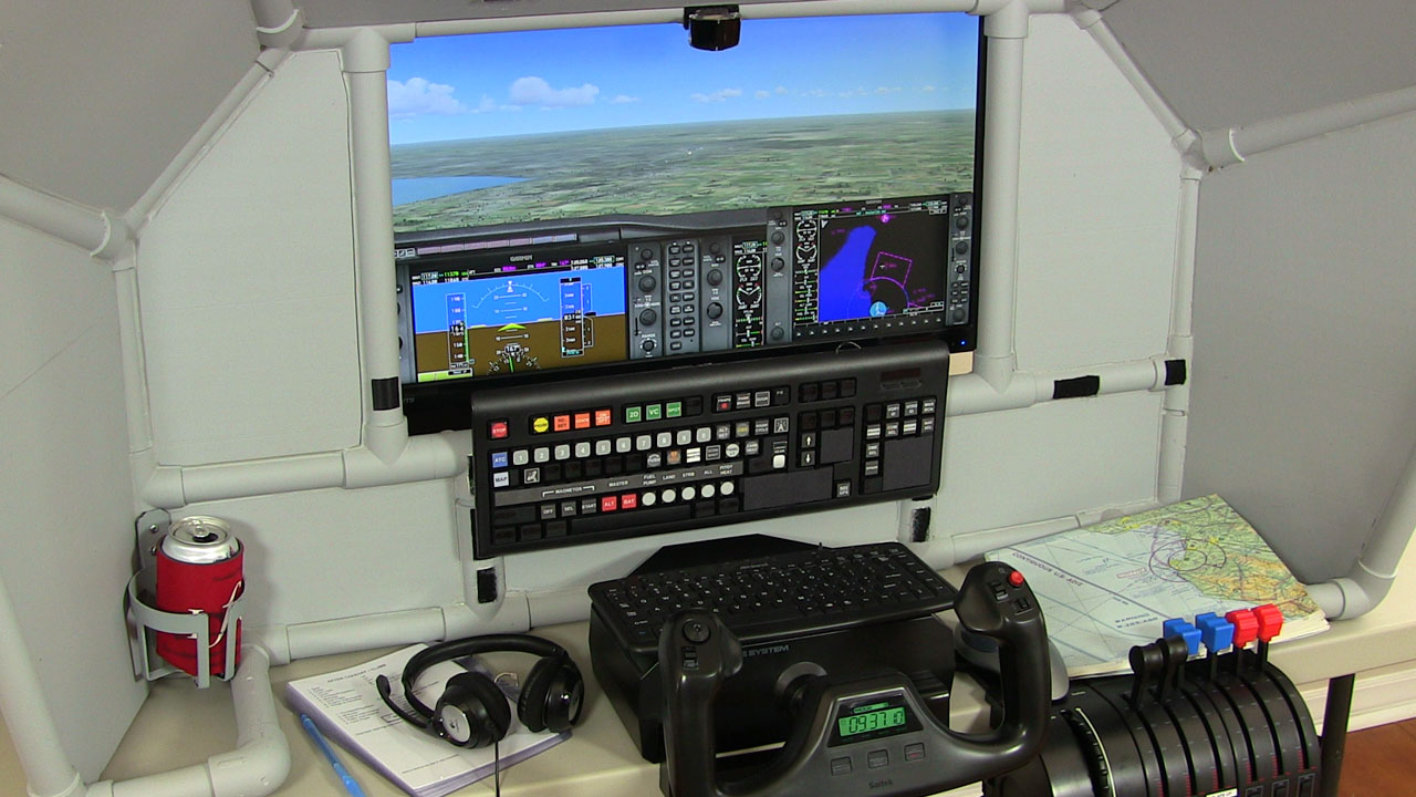Home flight simulator set up - Tabletop General Aviation Home Flight Simulator
