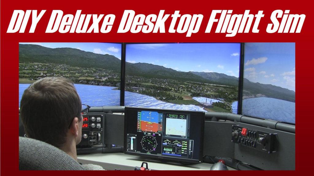 DIY Deluxe Desktop Flight Sim with four screens