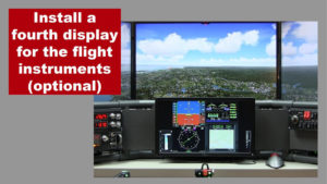 additional monitor on the flight sim