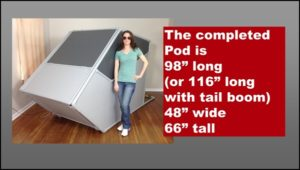 How large is the DIY Flight Sim Pod?