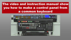 a keyboard modified as a switch panel