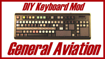 DIY Gen Av Keyboard Mod for plane simulator games and sims
