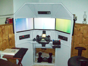 DIY Triple Screen Flight Sim by Chris