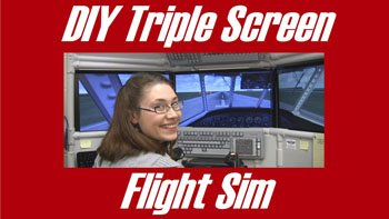 triple screen flight deck simulator