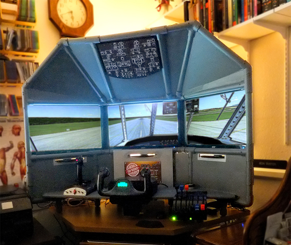 Desktop triple screen flight sim by Ron
