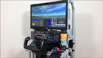 DIY Roll-Away Flight Sim for airplane games and simulators
