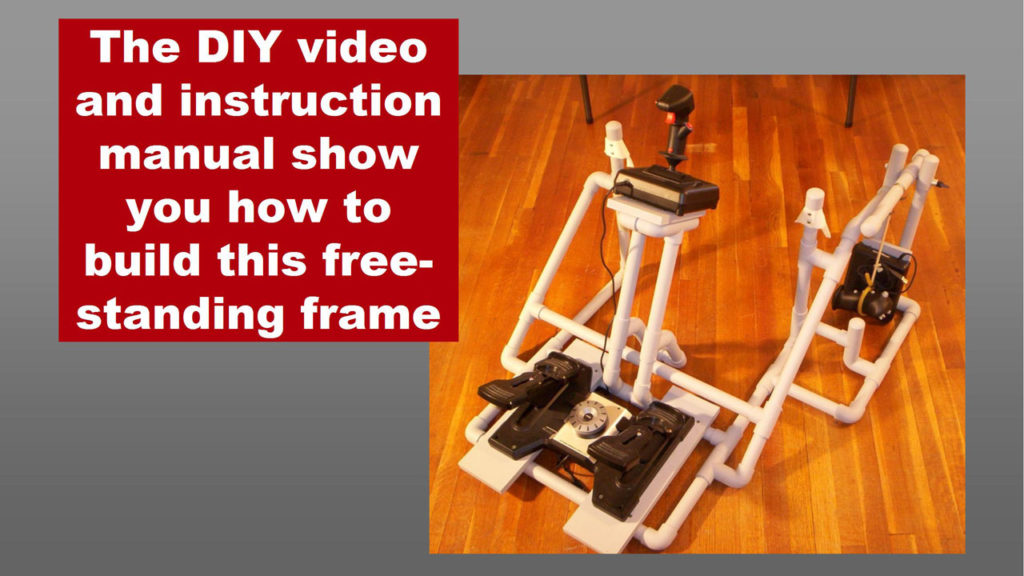 the video and manual show you how to build the DIY Easy Helicopter Sim Collective