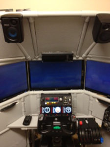 Richard's Triple Screen Flight Sim in Canada