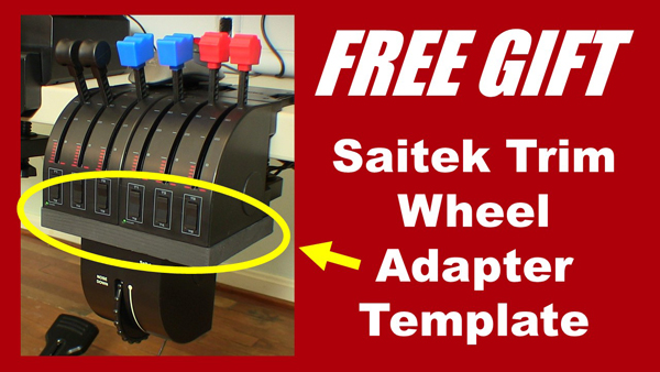 Saitek Trim Wheel Adapter Template, your free gift