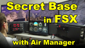 approaching Secret Base in FSX