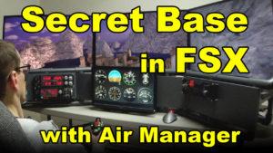 approaching Secret Base in FSX