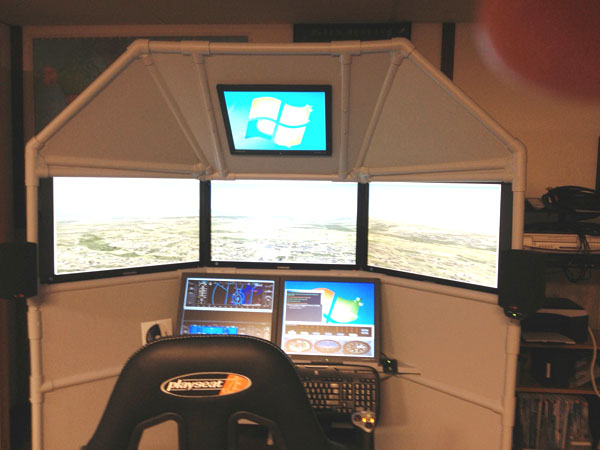 Six Screen Home Flight Simulator