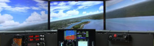 Four screen home airplane simulator