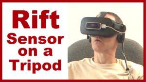 Oculus Rift sensor on a tripod