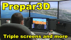 Prepar3D with triple screens and more