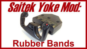 Saitek yoke fix: Rubber Bands