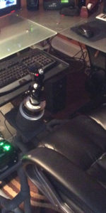 HOTAS frame with Warthog joystick by Ron