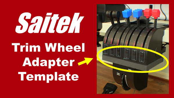 Saitek Trim Wheel Adapter Template