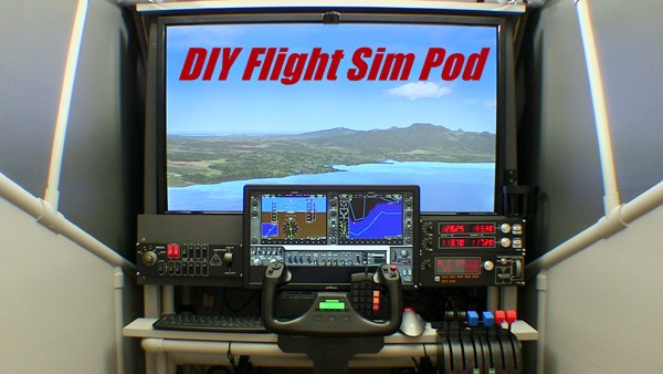 DIY enclosed flight simulator cockpit
