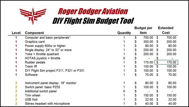 How much does it cost to build a flight simulator?