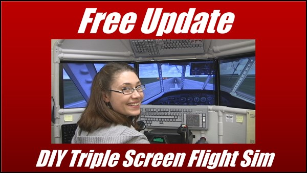 DIY Triple Screen Flight Simulator update
