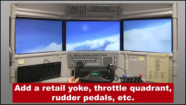 DIY Triple Screen Flight Simulator free update