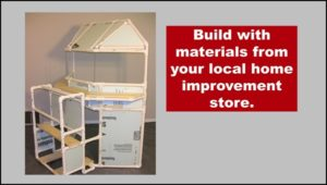 Build with materials from a hardware store